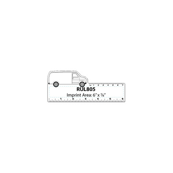 Small Van Shape White Plastic Ruler Photo