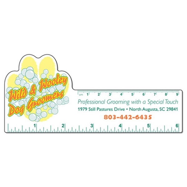 Small Paw Shape White Plastic Ruler Photo