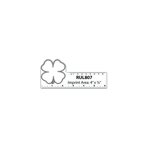 Small Clover/shamrock Shape White Plastic Ruler Photo