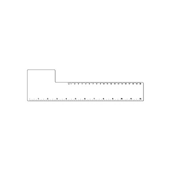 Square - Large White Flexible Plastic Ruler Photo