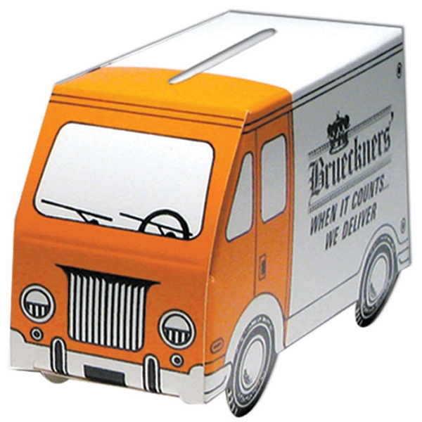 Small Truck Shape Bank Made From Poster Board Photo
