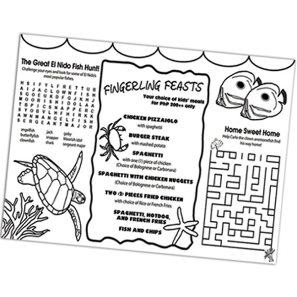 "U-color - Placemat, 9"" X 12"", That Can Be Colored, Made With Poster Board Photo"