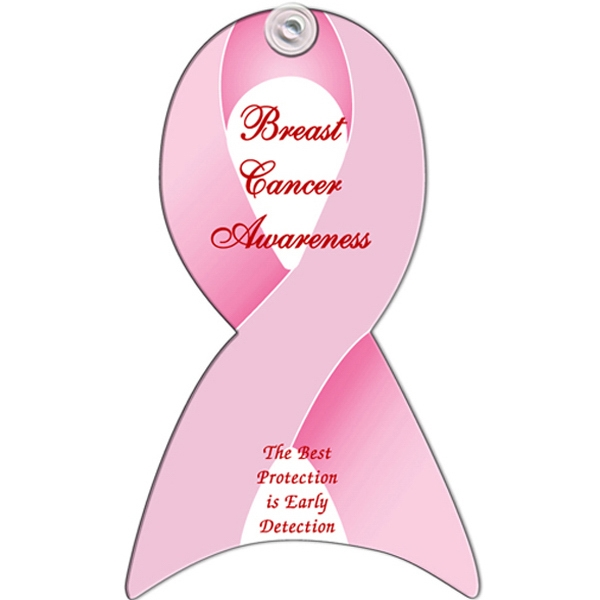 Pink Ribbon Design, Window Sign Made From 22 Pt, Poster Board Photo