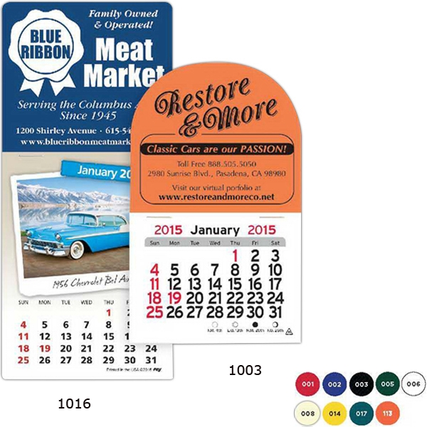 Peel-n-stick (r) - Magnetic Billboard Shape Calendar Photo