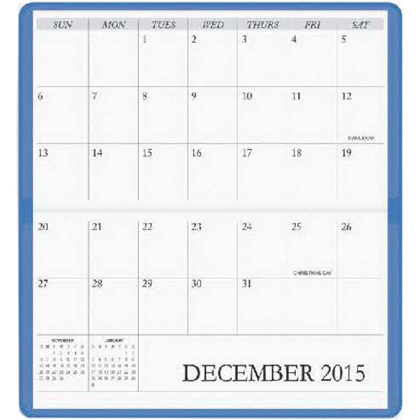 Horizontal Planner December Through January Photo