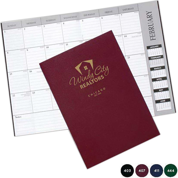 Leatherette Monthly Desk Planner Photo