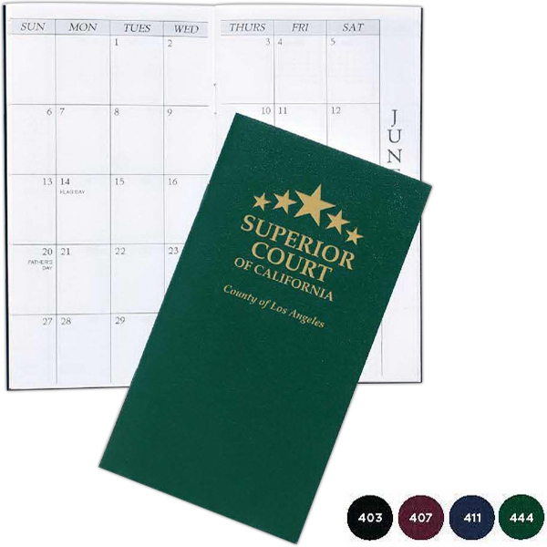 Pocket Sized Monthly Planner With Leatherette Cover Photo