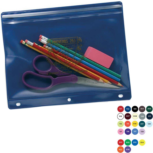 Pencil Cases With Pinch And Seal Closure, 3 Hole Punch Binding Photo
