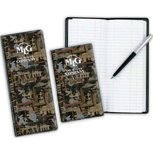 "Vinyl Camo Tally Book. 8 5/16"" X 3 3/8"" Photo"