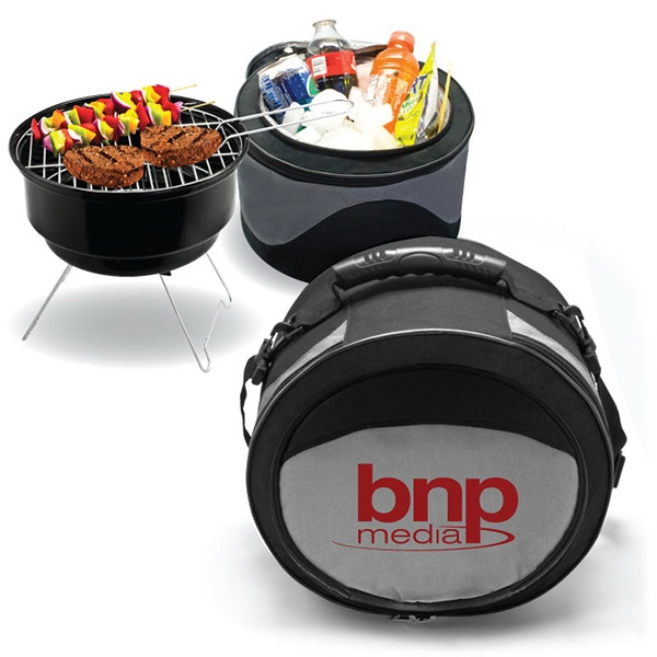 2 in 1 Cooler / BBQ Grill Combo - Cooler/barbecue grill combo. Portable, easy to store.