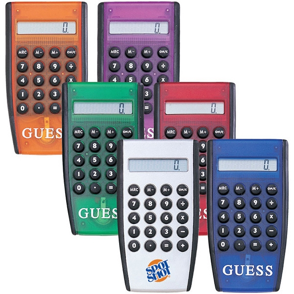 Pocket Calculator. 8-digit Calculator. Raised Rubber Keys Photo