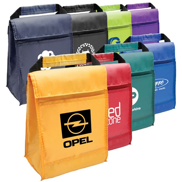 Malden - Insulated Lunch Bag With Front Slip Pocket,velcro Closure And Carrying Handle Photo