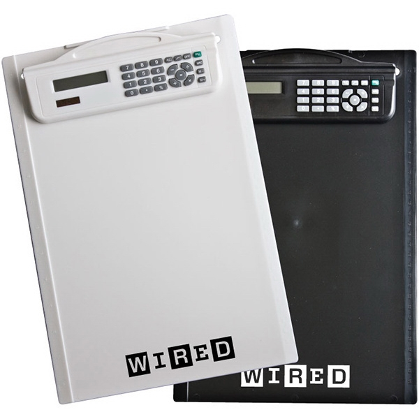 Ruled Letter Size Clipboard Calculator. 8 Digit Calculator. Clipboard, Ruled Sides Photo