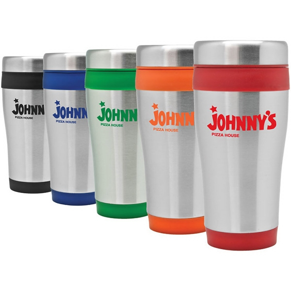 Azusa - 16 Oz Stainless Steel Travel Tumbler. Screw-on Spill-proof Lid Photo