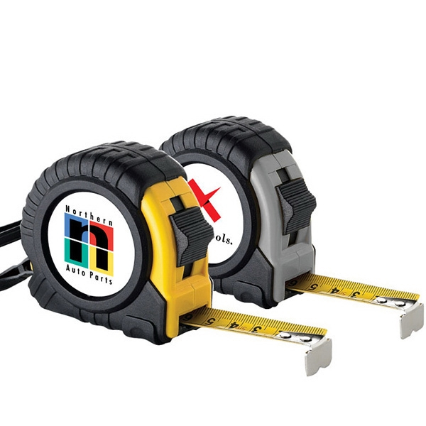 16' Tape Measure. 16 Feet Retractable Metal Tape. Standard And Metric Measurements Photo
