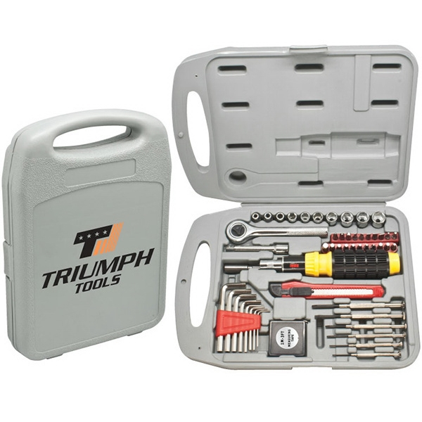 The Handyman - 55 Pc Tool Set. Durable With Tools, Tape Measure And Utility Knife Photo