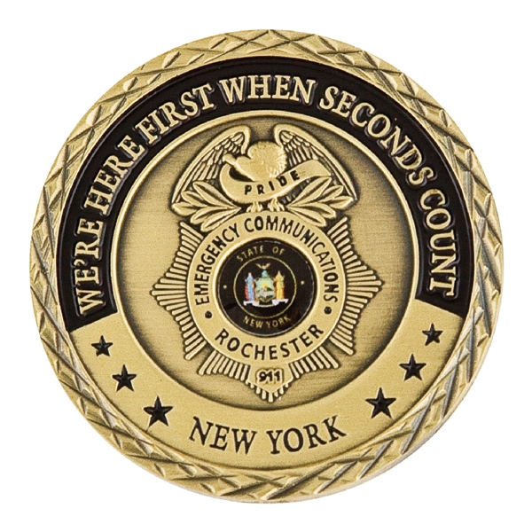 """Challenge Coins (Brass Core-Antique Gold Plating 1.75"""")"""