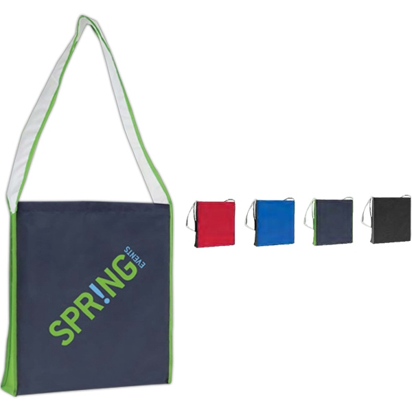 Color Block Shoulder Tote With Hook And Loop Tape Closure Photo