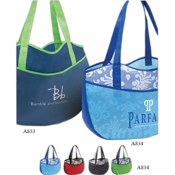 "Poly Pro Leisure - Non Woven Polypropylene Tote Bag With Print And 22"" Handles Photo"