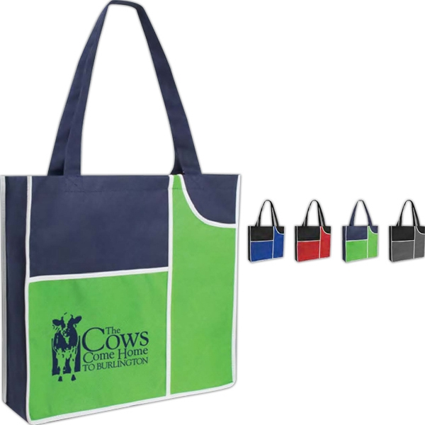 "Poly Pro Duo - Non Woven Polypropylene Tote Bag With 24"" Handles Photo"