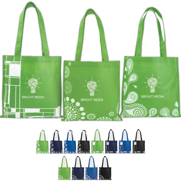 "Poly Pro - Polypropylene Printed Tote Bag, 14"" W X 14"" H Photo"