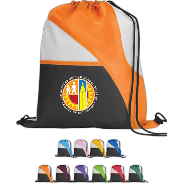 Tri-color - Vivid Expressions (tm) - Drawcord Tote Bag With Reinforced Corner Photo