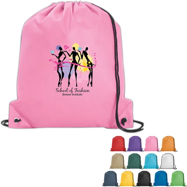 Poly Pro - Vivid Expressions (tm) - Polypropylene Drawstring Tote Bag With Double Drawcord Closure Photo