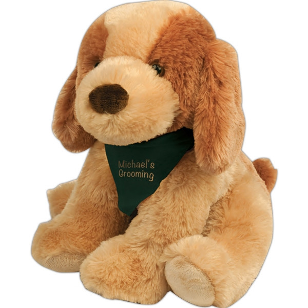"Bo Chelsea Teddy Bear (tm) - Stuffed Dog With Overall Size 8"" Photo"