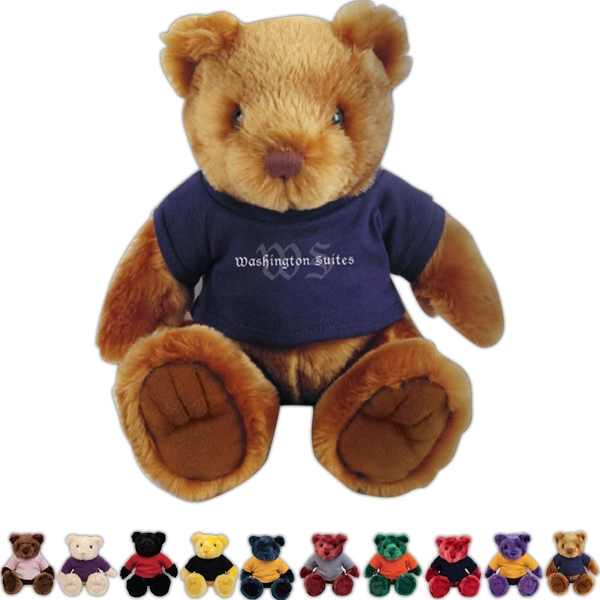 "Knuckles Chelsea Teddy Bear (tm) - Teddy Bear With Overall Size 12"" Photo"