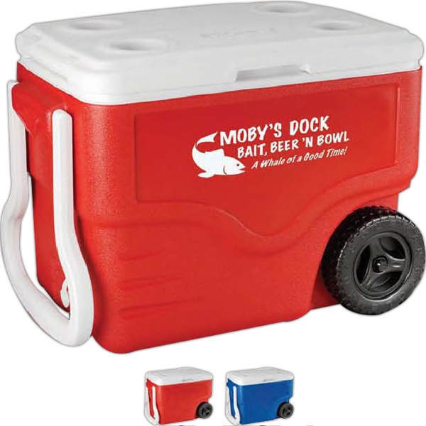 Coleman (r) The Outdoor Company (tm) - Wheeled Cooler With Polyethylene Construction And Large Capacity, 40 Quart Photo