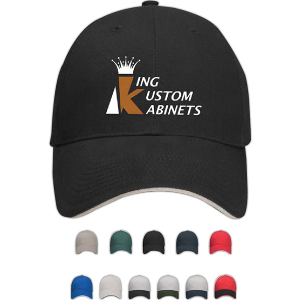 Pro-lite Deluxe Ii - Image Lock - Structured Brushed Cotton Twill Cap With Sandwich Visor Photo