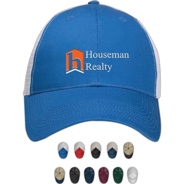 Pro-mesh - Image Lock - Structured Cotton Twill Cap With Mesh Back Photo