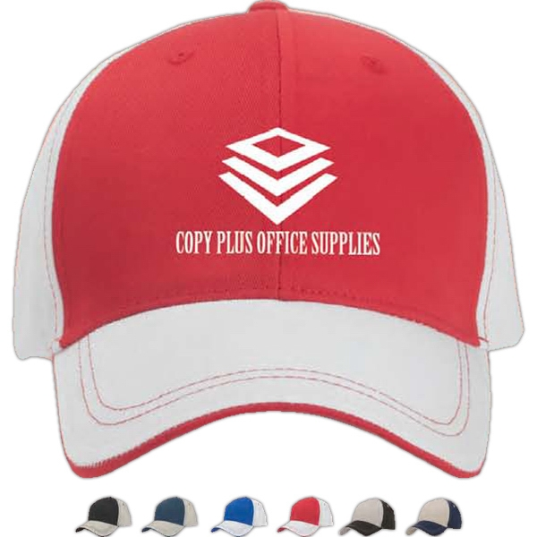 Image Lock - Polyester Baseball Cap With Visor Trim Photo
