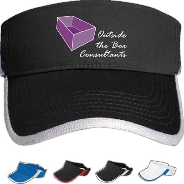 Image Lock - Sun Visor In Cotton Twill With Mesh Accent Photo