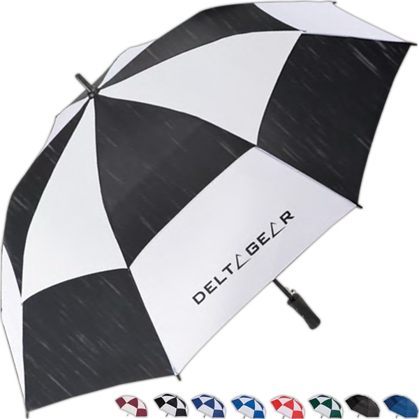 "Totes (r) Stormbeater (r) - Golf Stick Umbrella With 60"" Arc And Windproof Double Canopy Resists Inversion Photo"