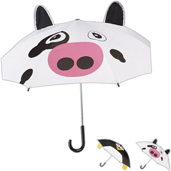Totes (r) Critter - Cute Animal Print Umbrella With 3-dimensional Features Photo