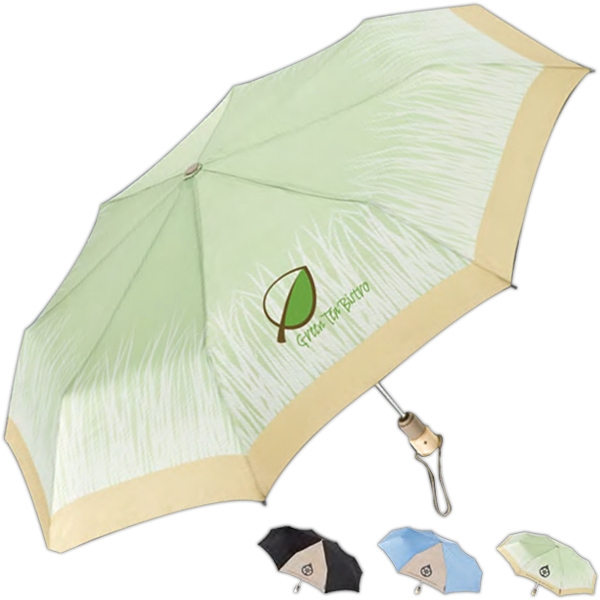 "Totes (r) Eco 'brella (r) - Auto Open/close Umbrella Made From Recycled Material And 44"" Arc Photo"