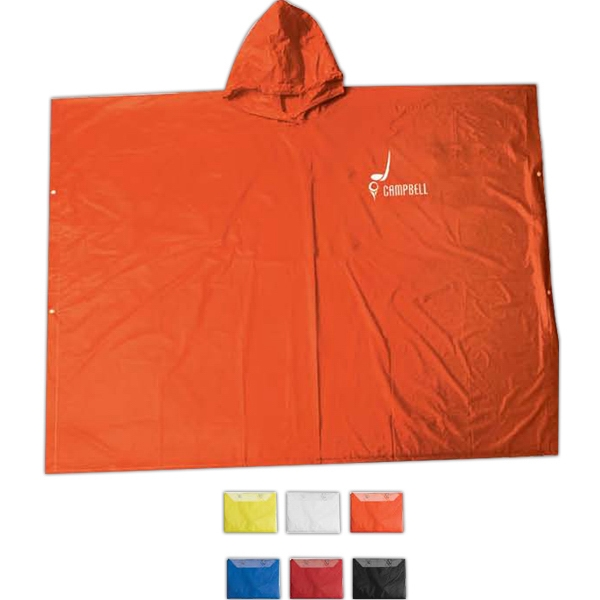 Poncho Made Of Pvc Vinyl And Packed In Pouch Photo