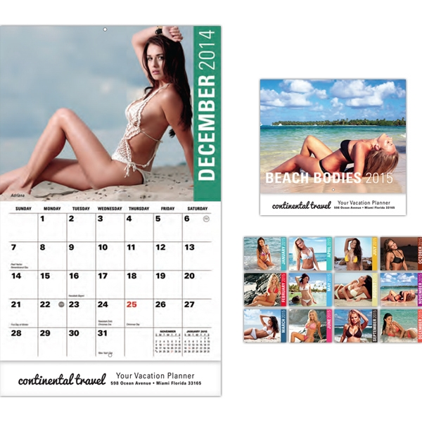 Beach Bodies 13 Month Wall Calendar Photo
