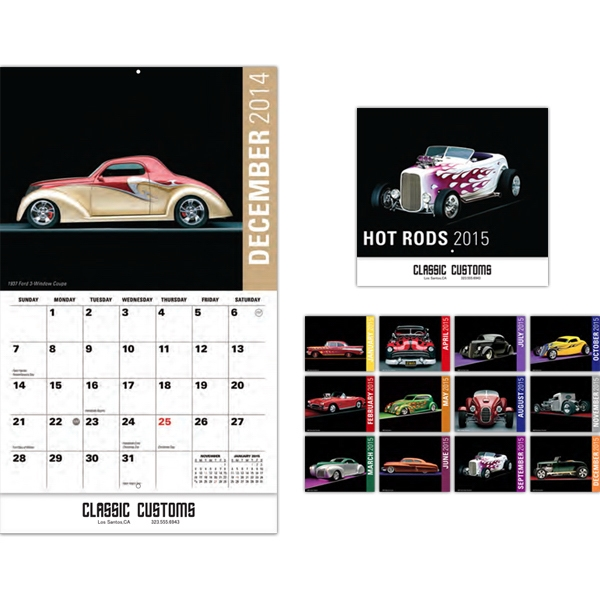 Hot Rods 13 Month Wall Calendar Photo