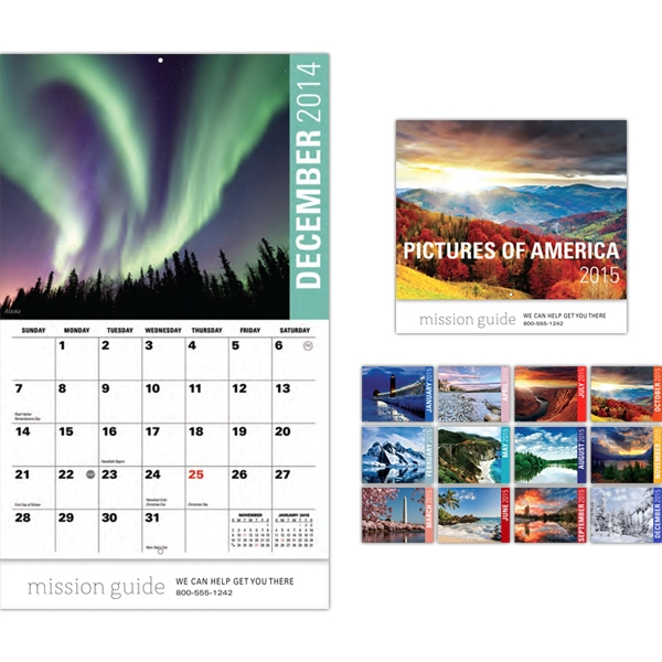 Pictures Of America 13 Month Wall Calendar Photo