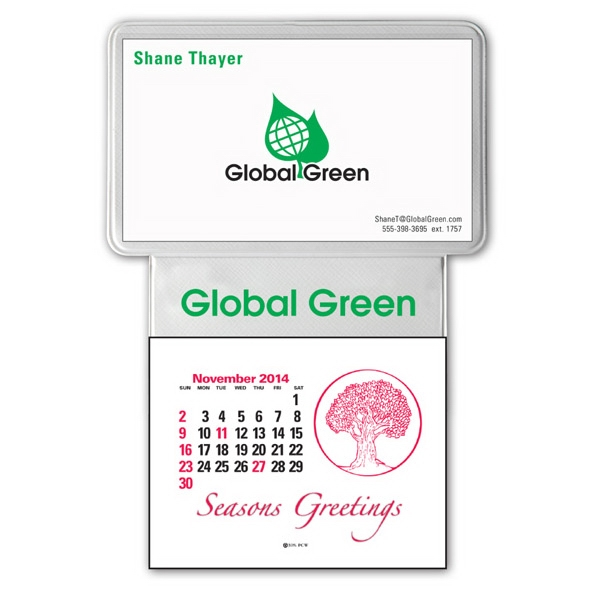 Press-n-stick (tm) - Business Card Calendar With Imprint Photo