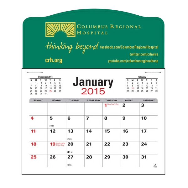 Press-n-stick (tm) - Jumbo 3 Month Calendar In Horizontal Format Photo