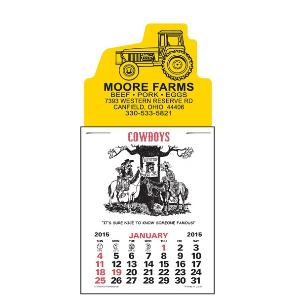 Press-n-stick (tm) - Cowboy Calendar Pad Photo