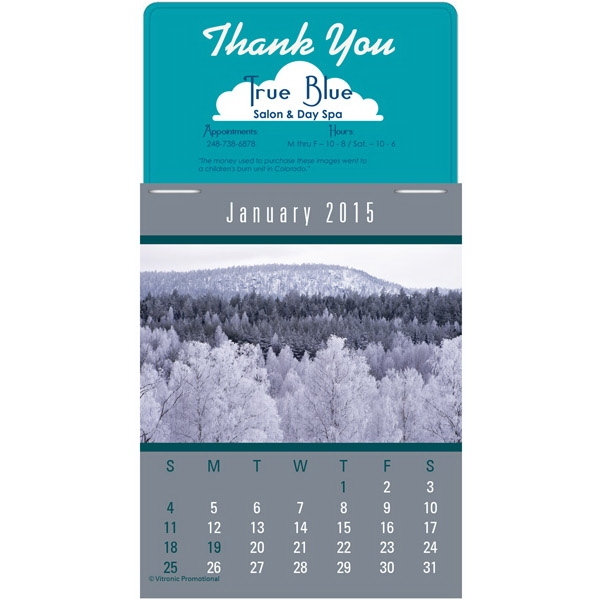 Press-n-stick (tm) Scenic - Twelve Month Stick-on Calendar Pad With A Variety Of American Landscapes Photo
