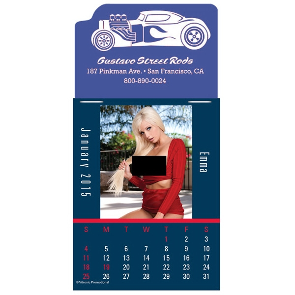 Press-n-stick (tm) Dream Girls - Twelve Month Stick On Calendar Pad With Provocative Photographs Of Topless Women Photo