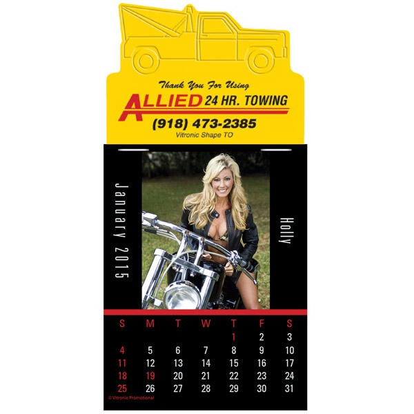 Press-n-stick (tm) Biker Babes - Twelve Month Stick On Calendar Pad With Photographs Of Girls On Motorcycles Photo