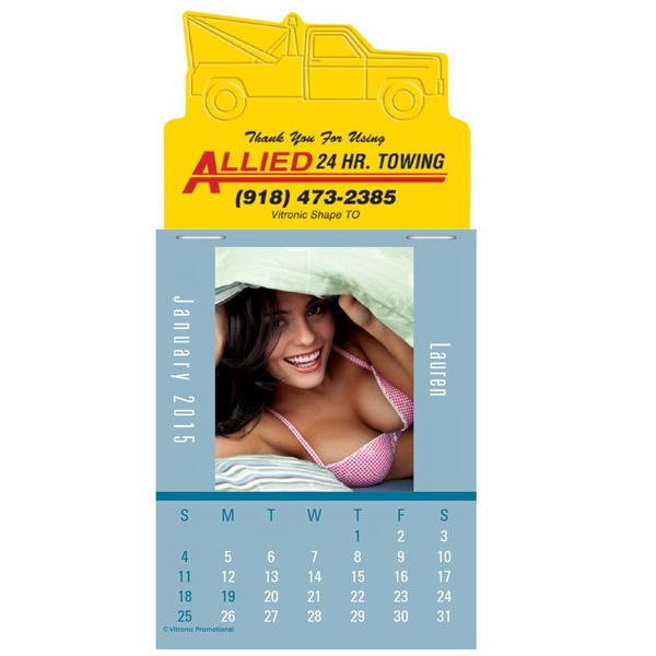 Press-n-stick (tm) Maiden America - Twelve Month Stick On Calendar Pad With Photographs Of Women In Underwear Photo