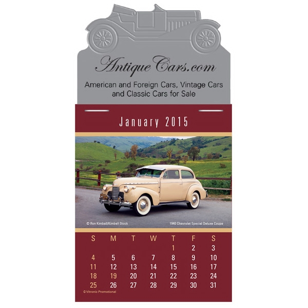 Magna Stick (tm) - Magnetic Calendar With A Classic And Muscle Car Calendar Pad Photo
