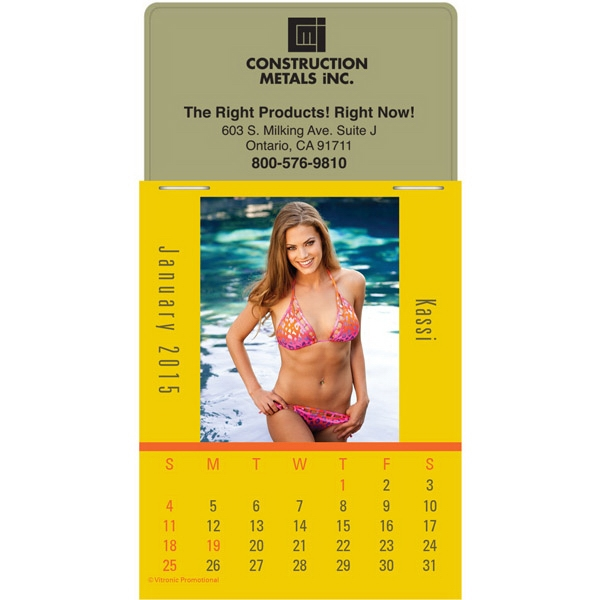 Magna Stick (tm) - Magnetic Calendar With A Sunshine Girls Provocative Calendar Pad Photo